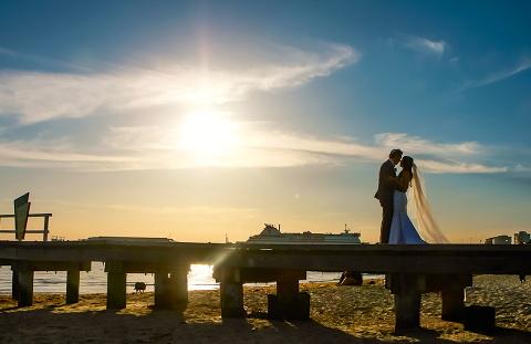 Melbourne Beach Wedding Sunset