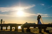 Melbourne Beach Wedding photo sunset