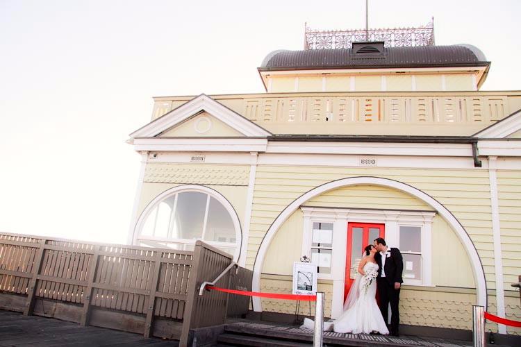 St Kilda Pier Wedding at Kiosk Little Blue