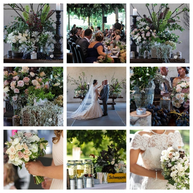 stones of the yarra valley wedding flowers collage