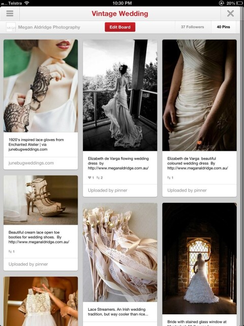 Megan Aldridge Photography Pinterest page